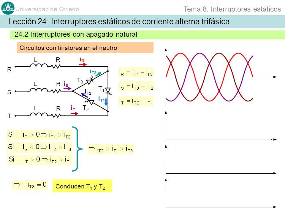 Lección 24: Interruptores estáticos de corriente alterna trifásica