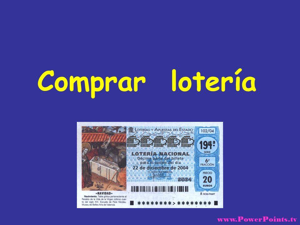 Comprar lotería www.PowerPoints.tv