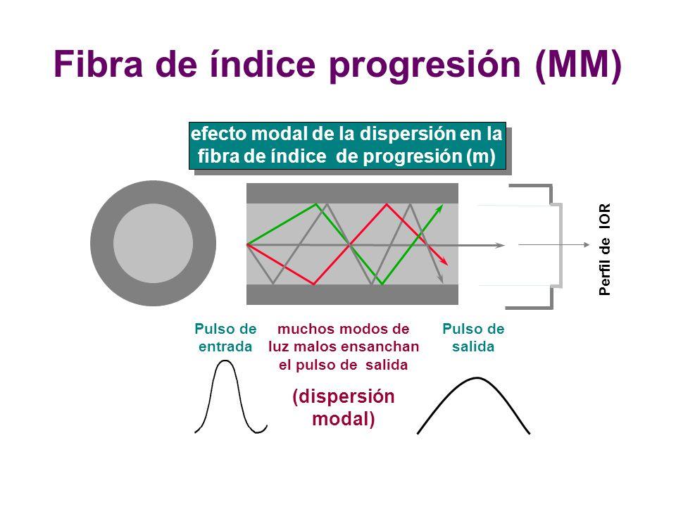 Fibra de índice progresión (MM)