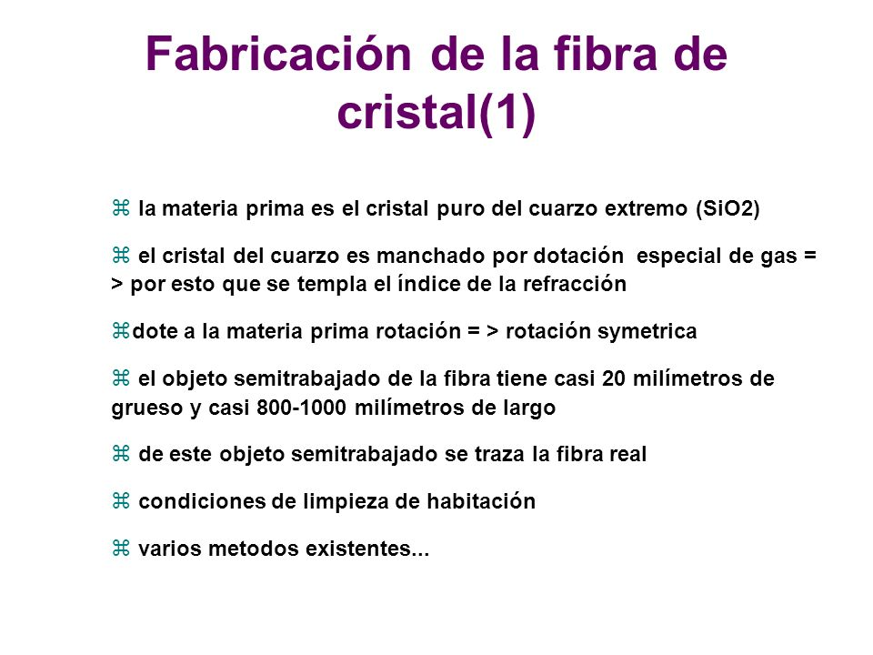 Fabricación de la fibra de cristal(1)