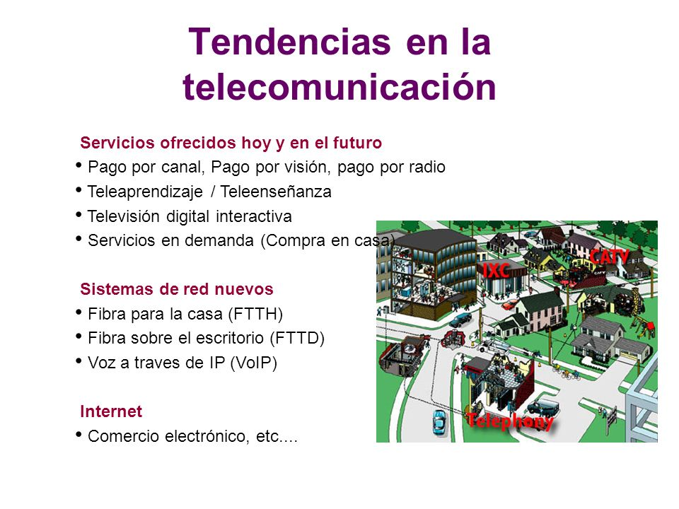 Tendencias en la telecomunicación