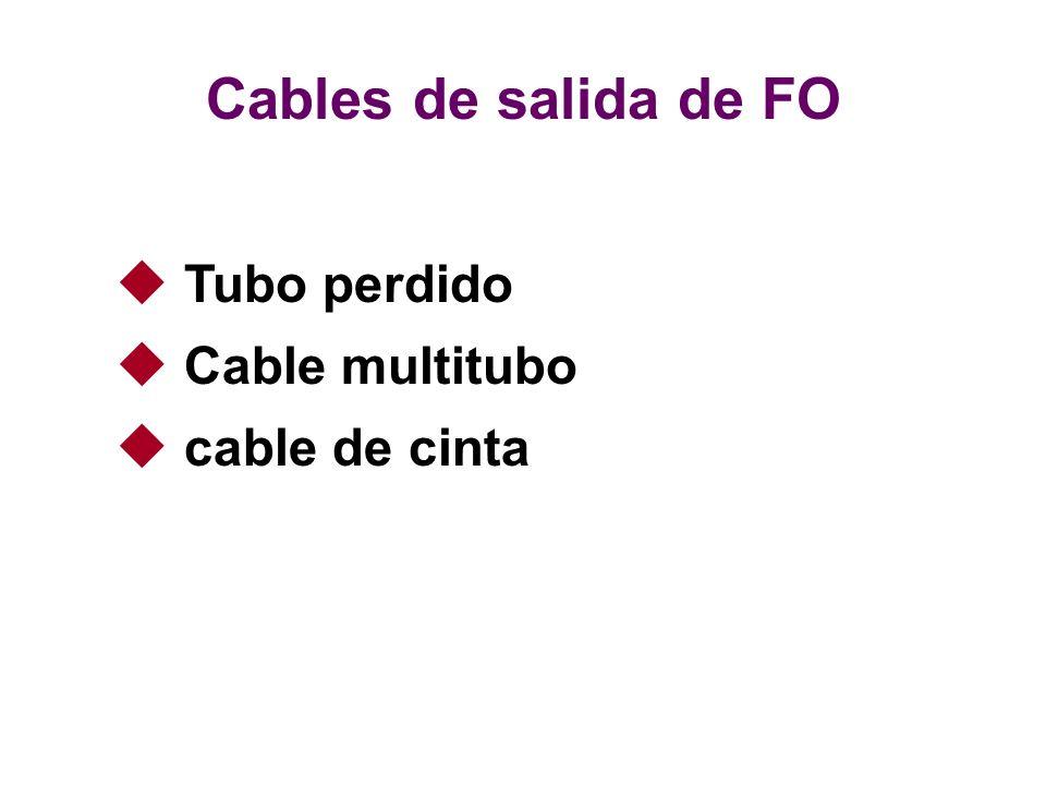 Cables de salida de FO Tubo perdido Cable multitubo cable de cinta