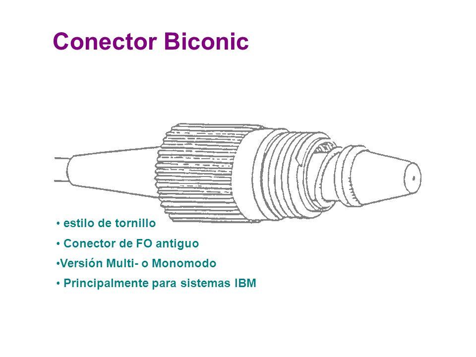 Conector Biconic estilo de tornillo Conector de FO antiguo