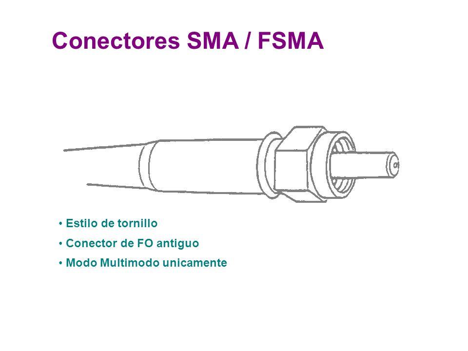Conectores SMA / FSMA Estilo de tornillo Conector de FO antiguo