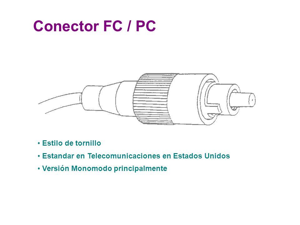 Conector FC / PC Estilo de tornillo