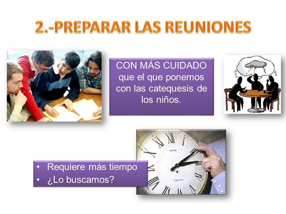 2.-PREPARAR LAS REUNIONES