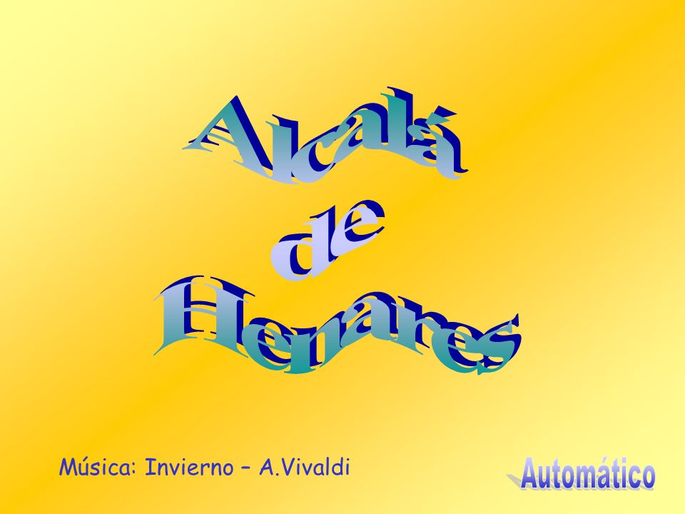 Alcalá de Henares Música: Invierno – A.Vivaldi Automático