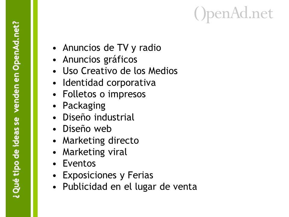 Qué tipo de ideas se venden en OpenAd.net
