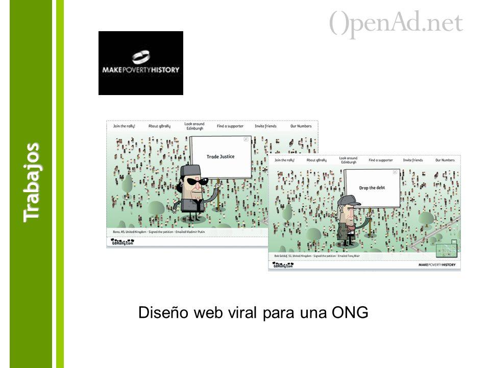 Trabajos Diseño web viral para una ONG