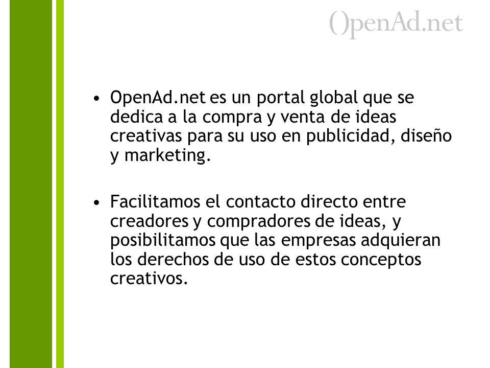 OpenAd.net es un portal global que se dedica a la compra y venta de ideas creativas para su uso en publicidad, diseño y marketing.