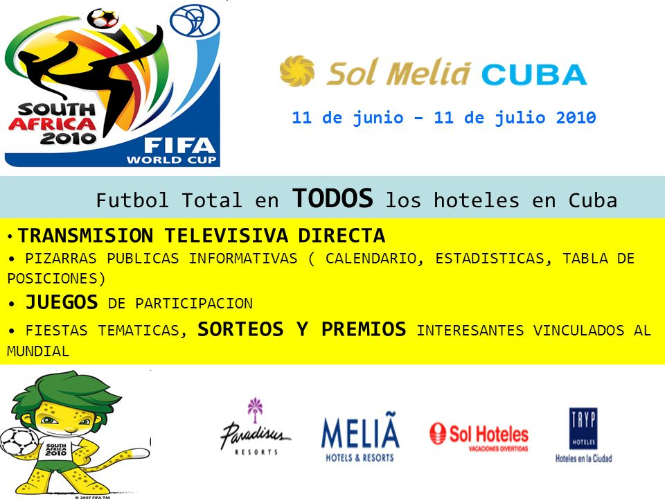 Futbol Total en TODOS los hoteles en Cuba