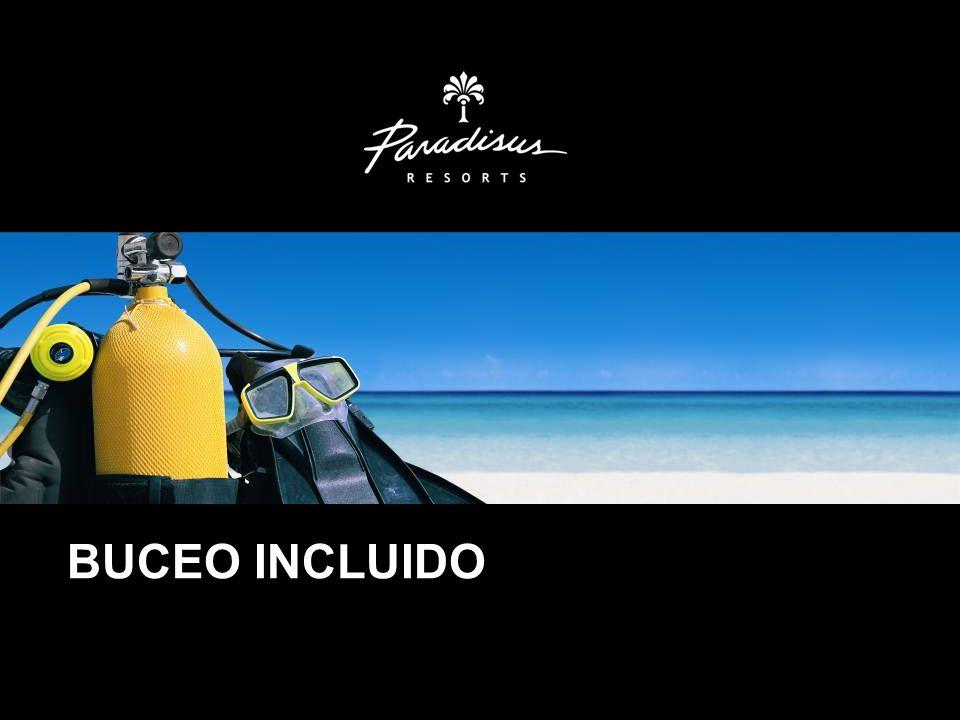 De igual modo presentamos en nuestros Hoteles Paradisus, el Buceo incluido como un valor agregado a estos productos ultra todo incluido.