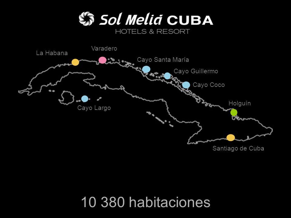 10 380 habitaciones Varadero La Habana Cayo Santa María Cayo Guillermo