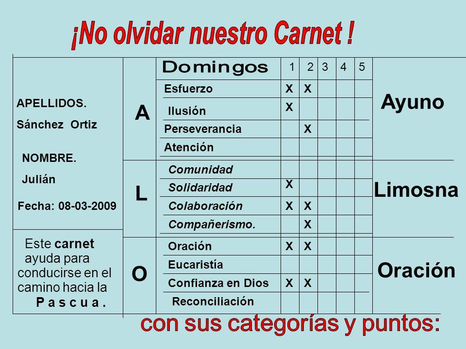 ¡No olvidar nuestro Carnet !