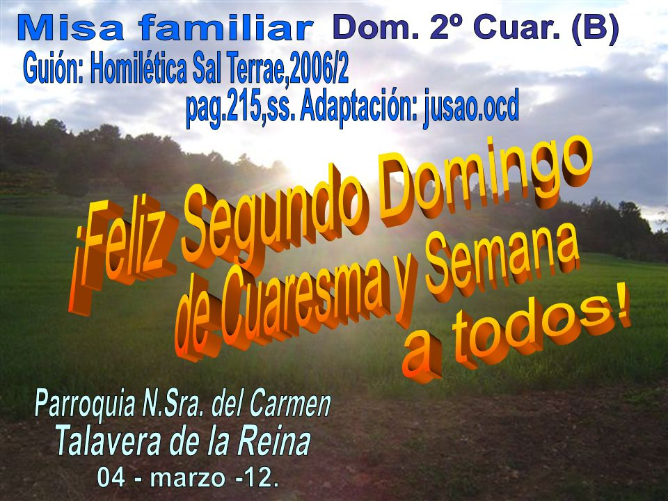 Guión: Homilética Sal Terrae,2006/2