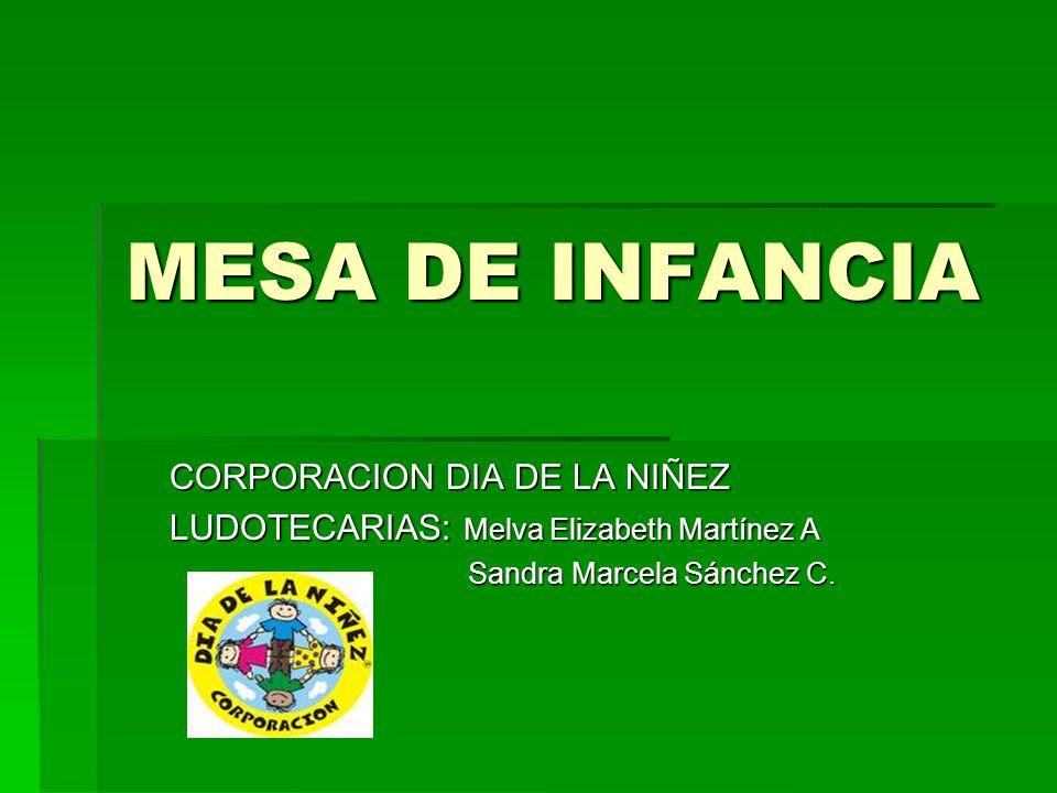 MESA DE INFANCIA CORPORACION DIA DE LA NIÑEZ