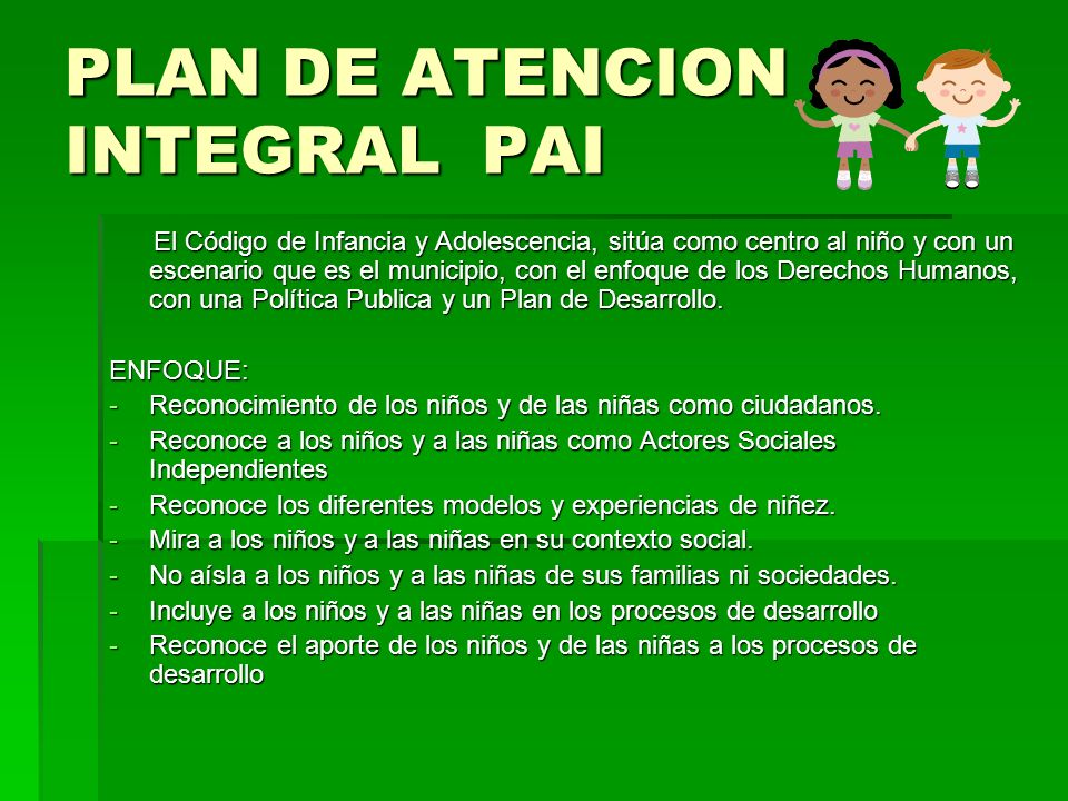 PLAN DE ATENCION INTEGRAL PAI