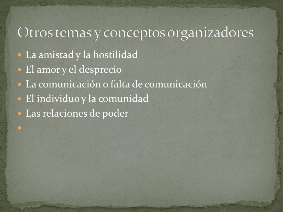 Otros temas y conceptos organizadores