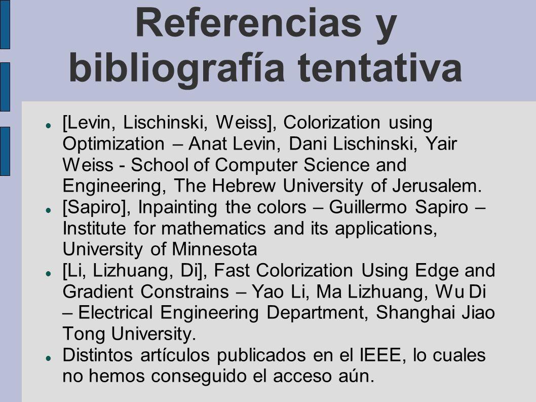 Referencias y bibliografía tentativa