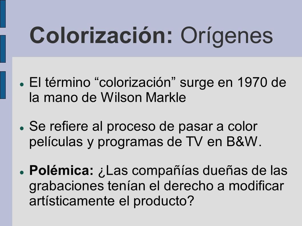 Colorización: Orígenes