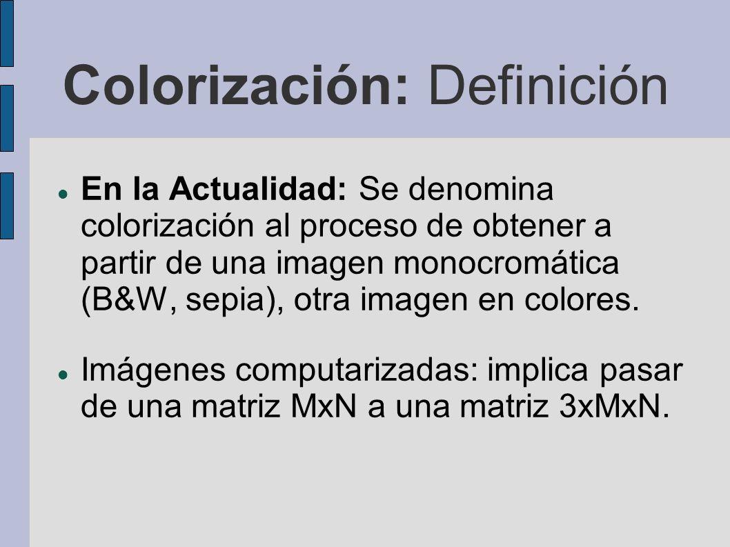 Colorización: Definición