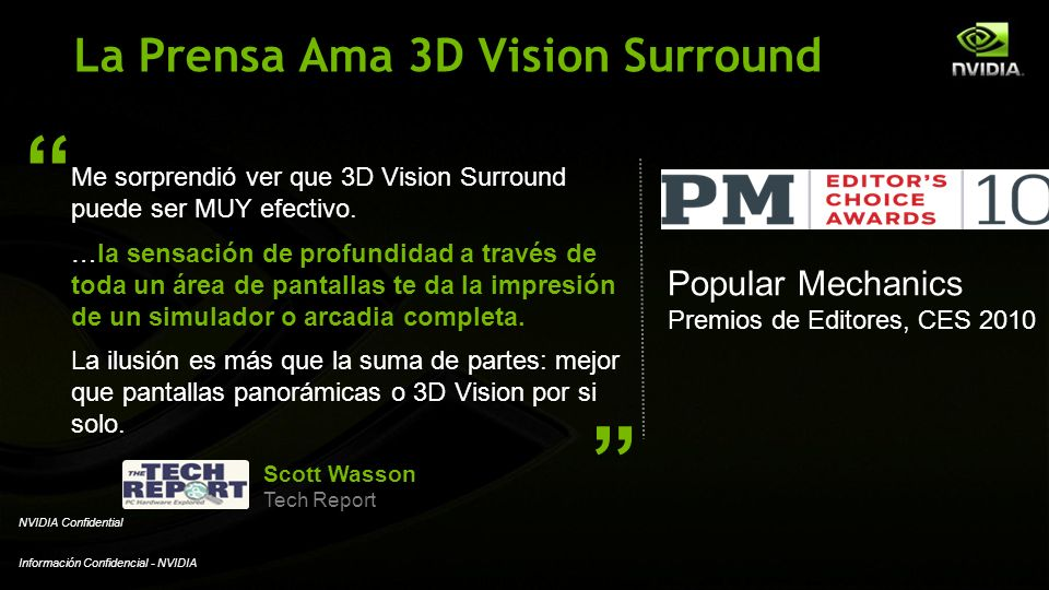 La Prensa Ama 3D Vision Surround