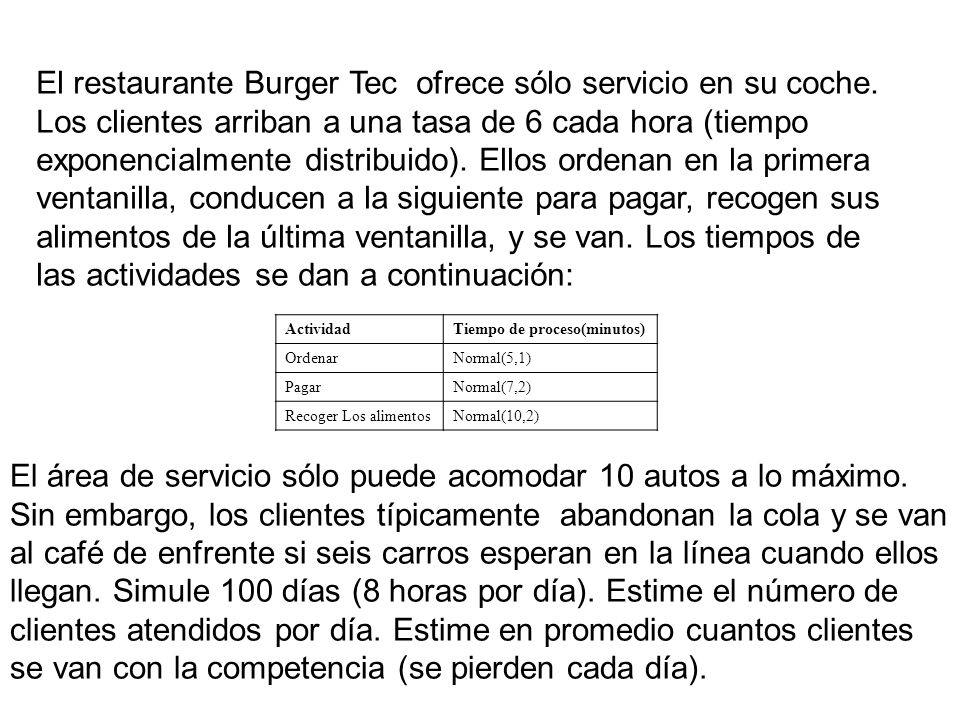 El restaurante Burger Tec ofrece sólo servicio en su coche