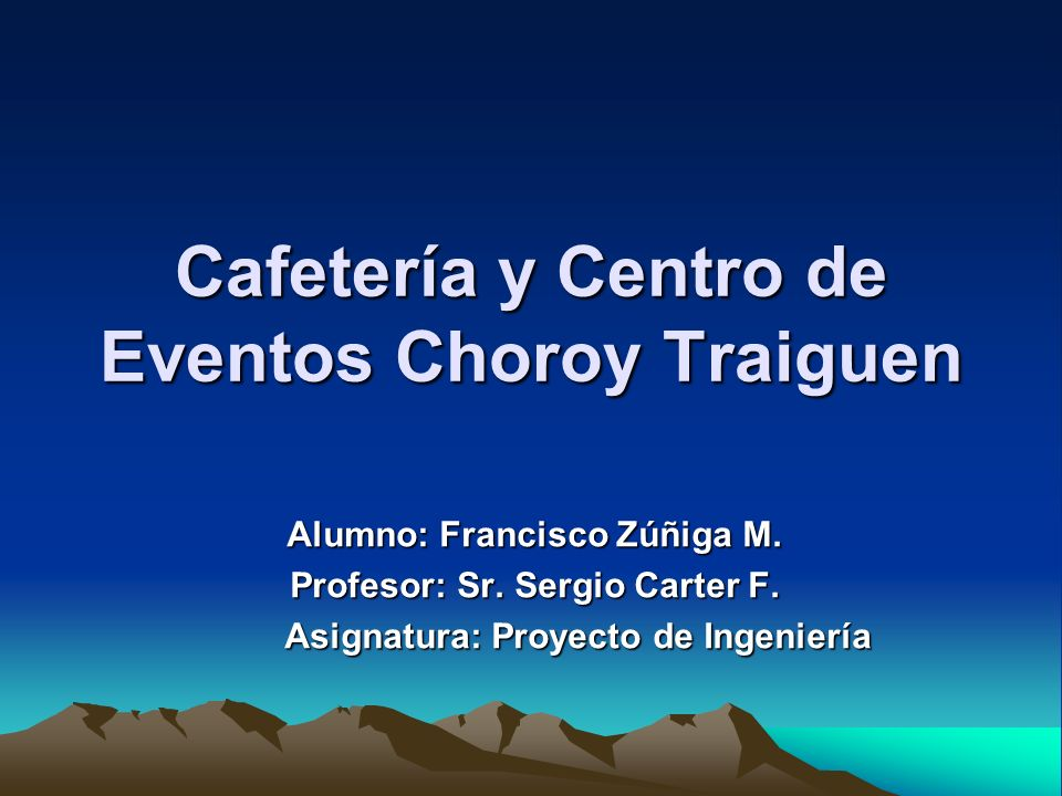 Cafetería y Centro de Eventos Choroy Traiguen