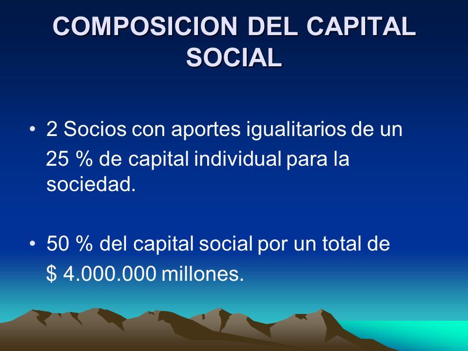 COMPOSICION DEL CAPITAL SOCIAL