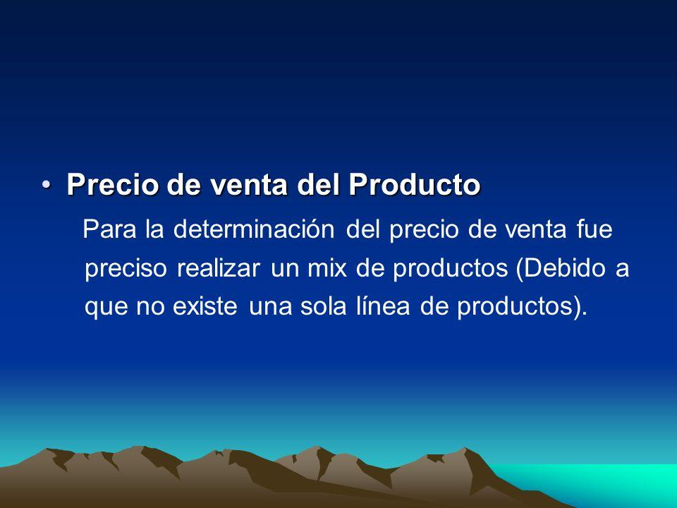 Precio de venta del Producto