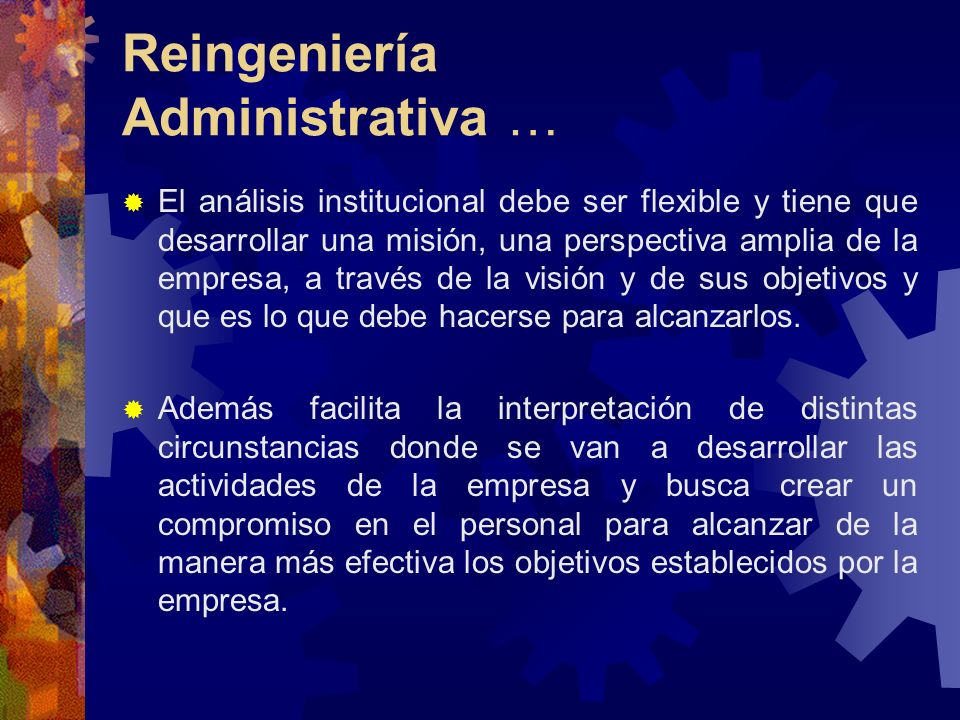 Reingeniería Administrativa …