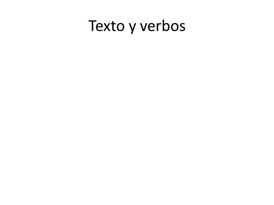 Texto y verbos