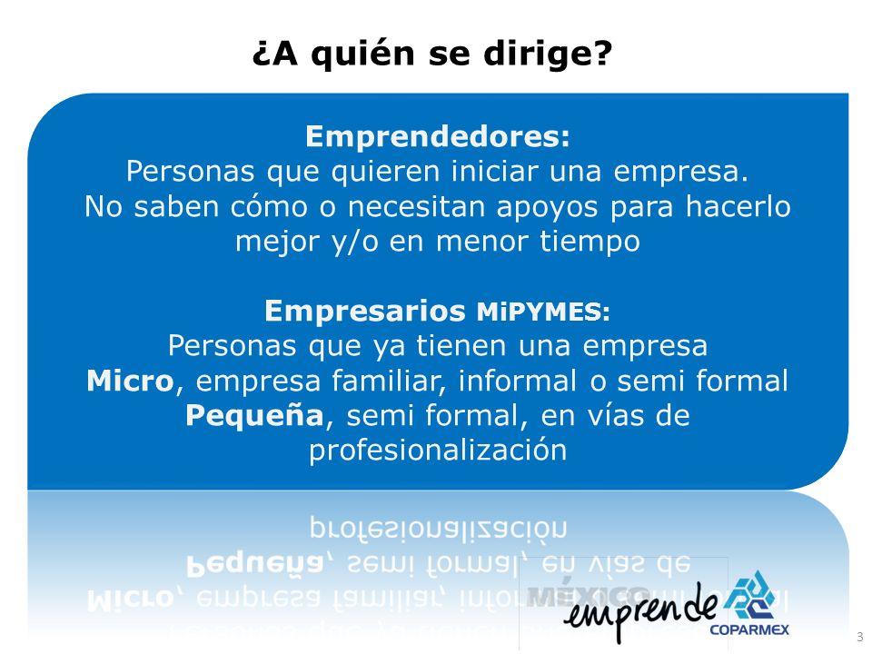¿A quién se dirige Emprendedores: