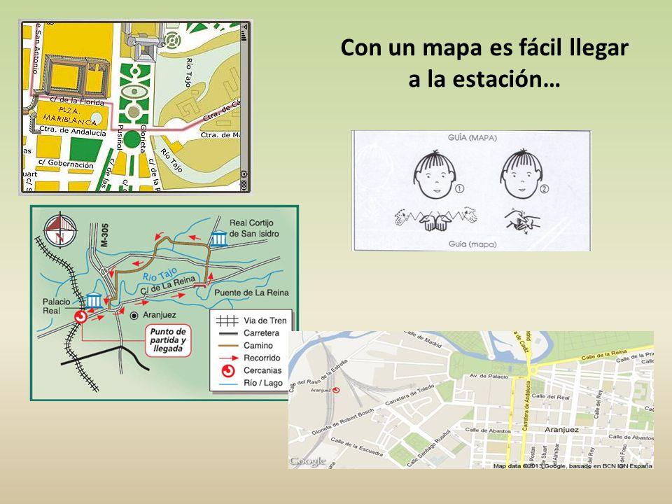 Con un mapa es fácil llegar a la estación…