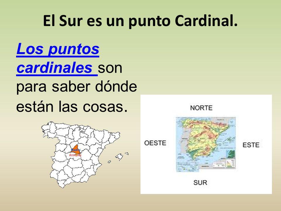 El Sur es un punto Cardinal.
