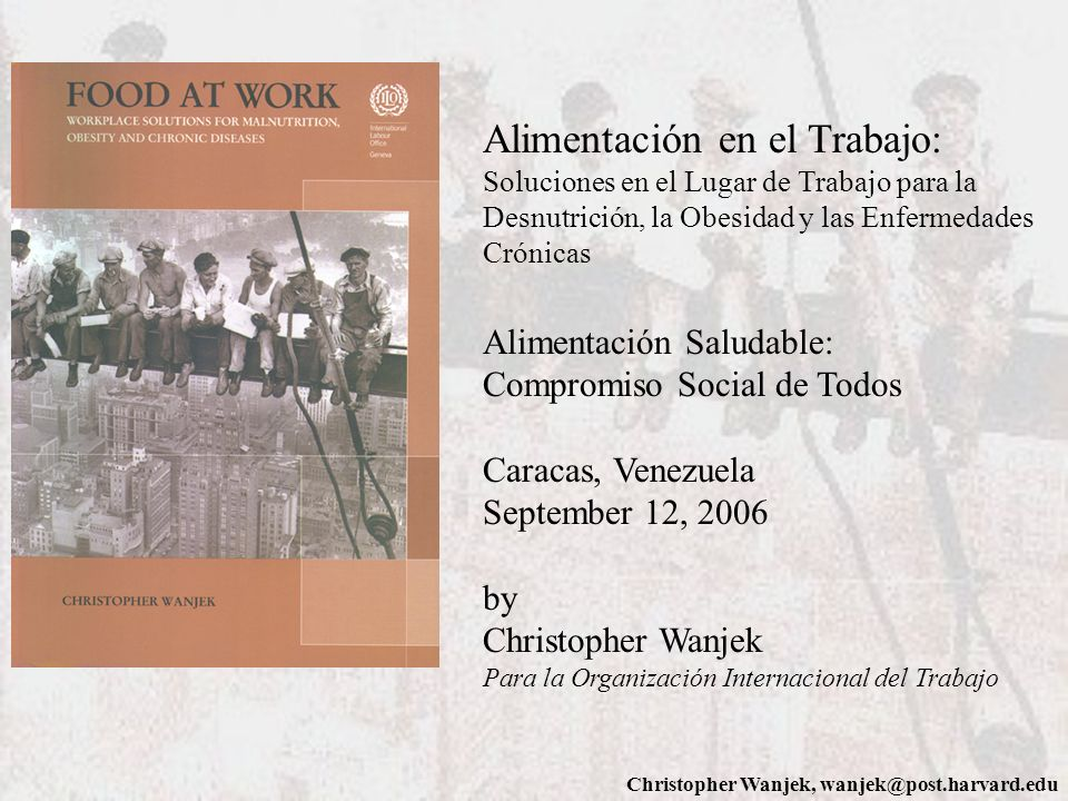 Alimentación en el Trabajo: Soluciones en el Lugar de Trabajo para la Desnutrición, la Obesidad y las Enfermedades Crónicas