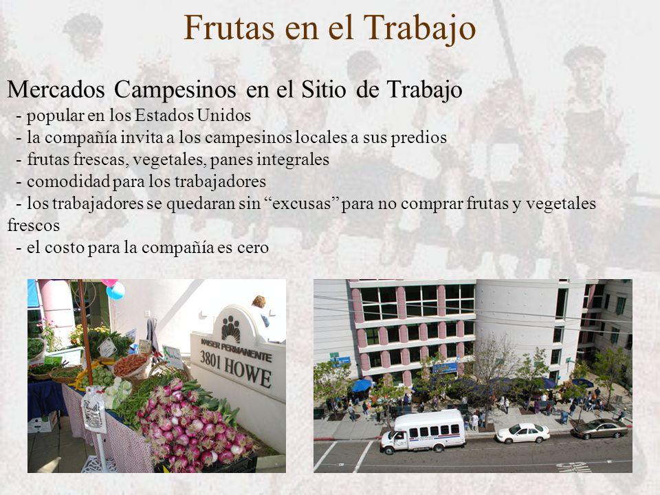 Frutas en el Trabajo Mercados Campesinos en el Sitio de Trabajo