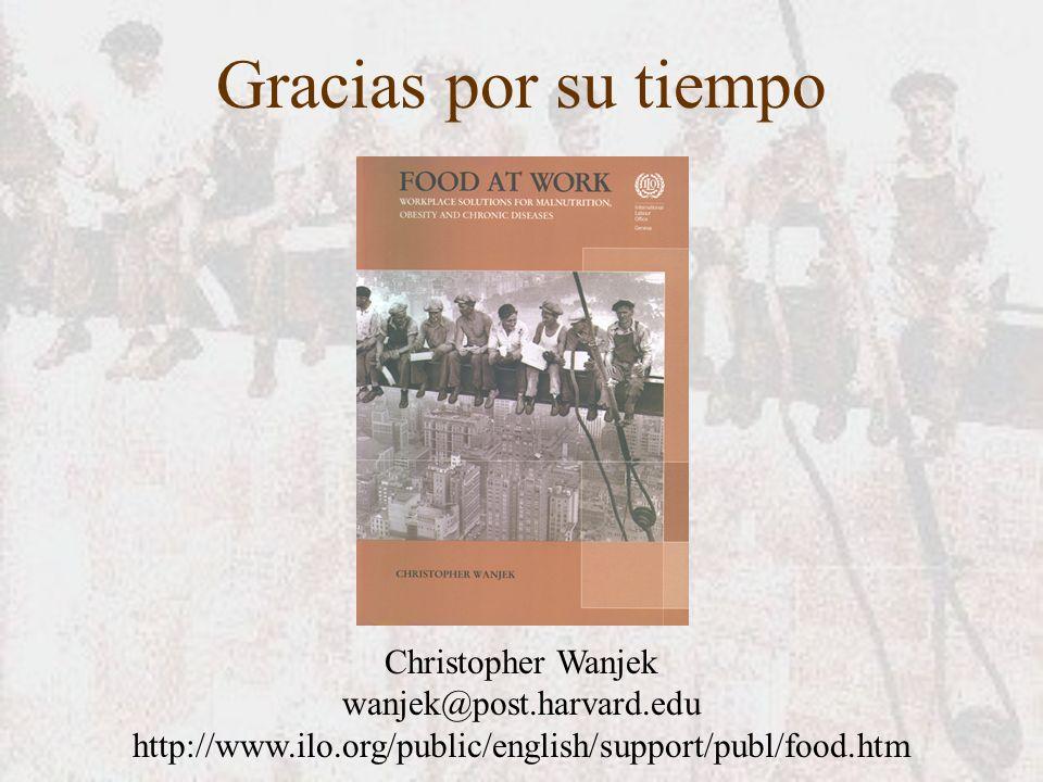 Gracias por su tiempo Christopher Wanjek wanjek@post.harvard.edu