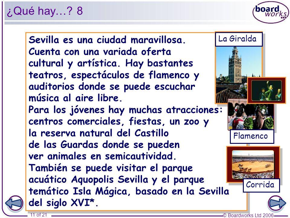 ¿Qué hay… 8 Sevilla es una ciudad maravillosa.