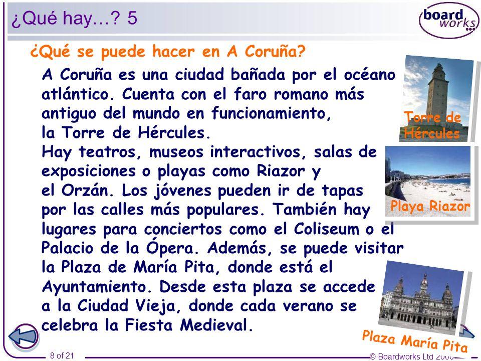 ¿Qué hay… 5 ¿Qué se puede hacer en A Coruña