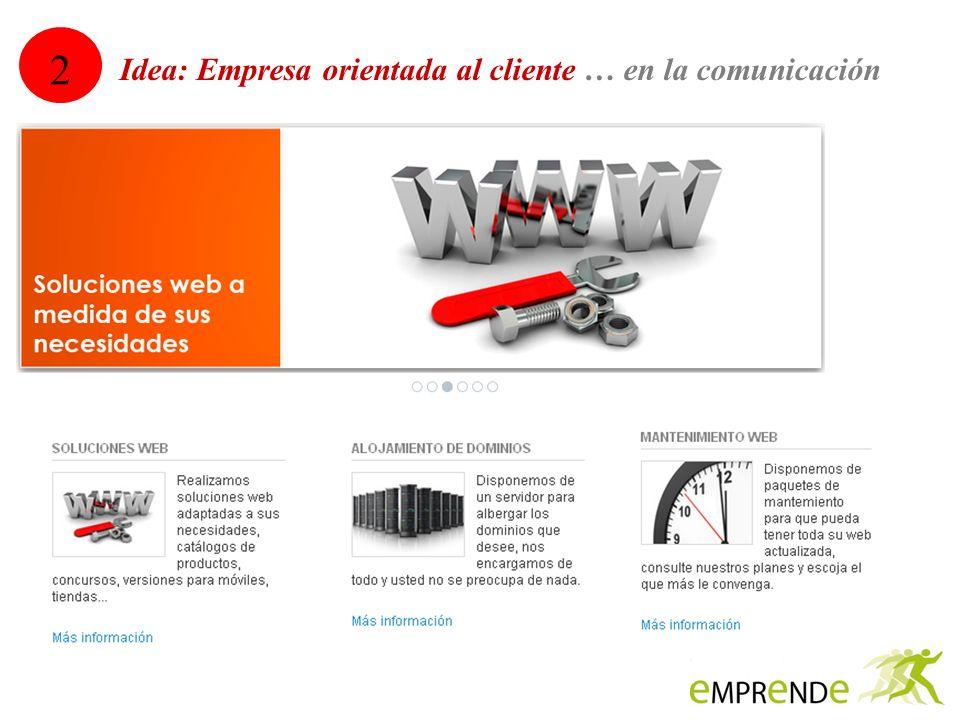 2 Idea: Empresa orientada al cliente … en la comunicación 12
