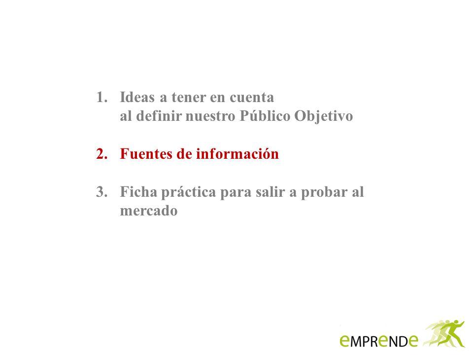 Ideas a tener en cuenta al definir nuestro Público Objetivo.
