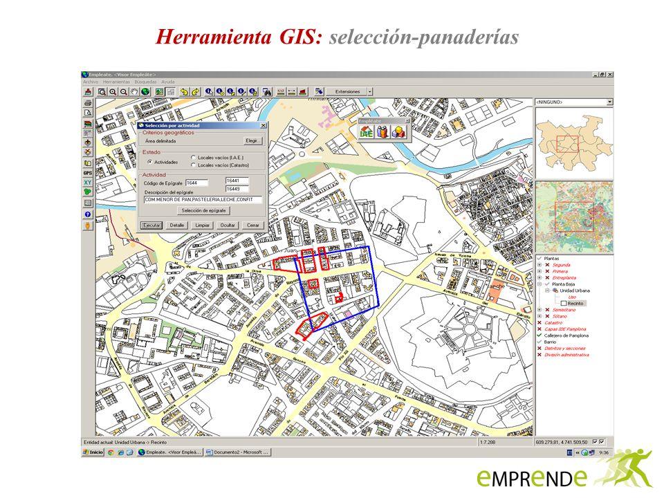 Herramienta GIS: selección-panaderías