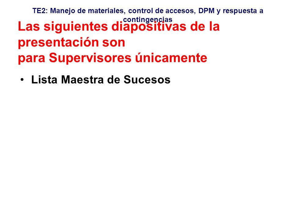 Las siguientes diapositivas de la presentación son para Supervisores únicamente