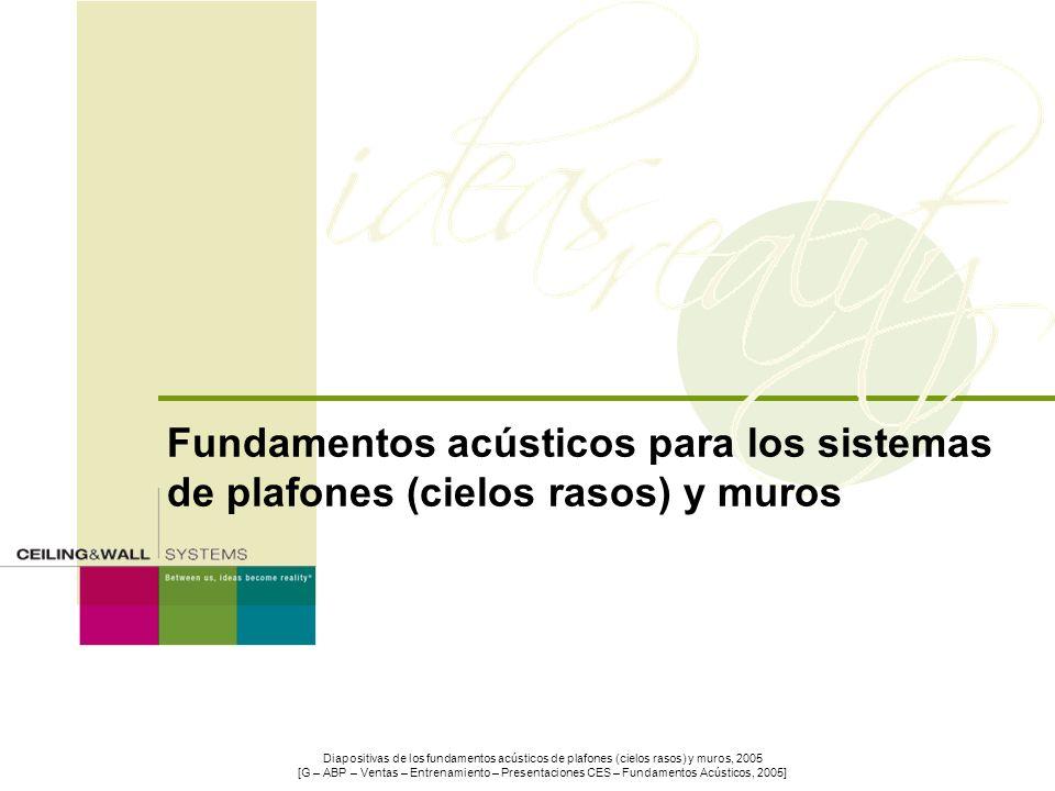 Fundamentos acústicos para los sistemas de plafones (cielos rasos) y muros
