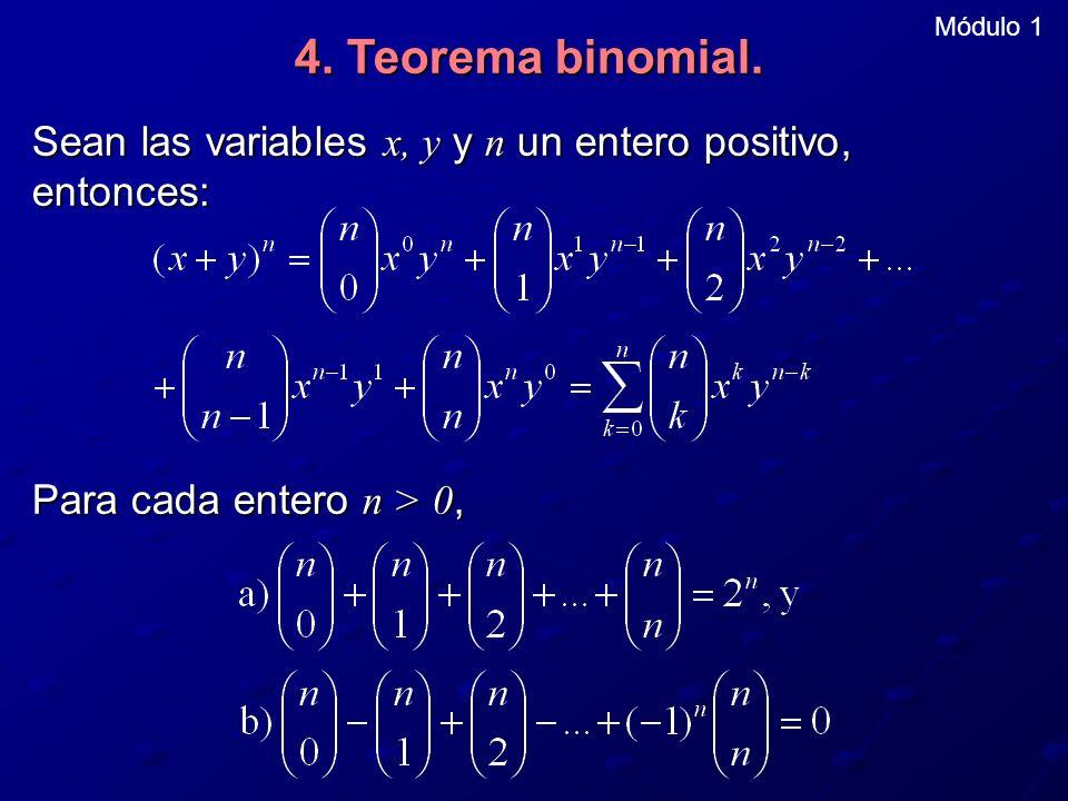 Módulo 1 4. Teorema binomial.
