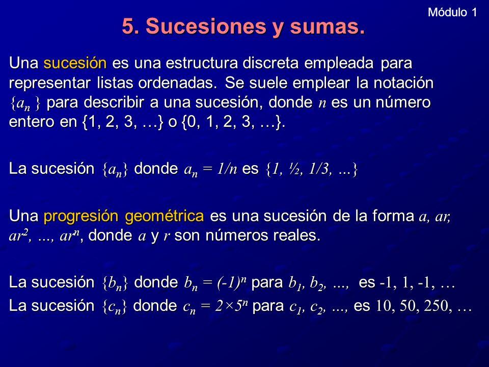Módulo 1 5. Sucesiones y sumas.