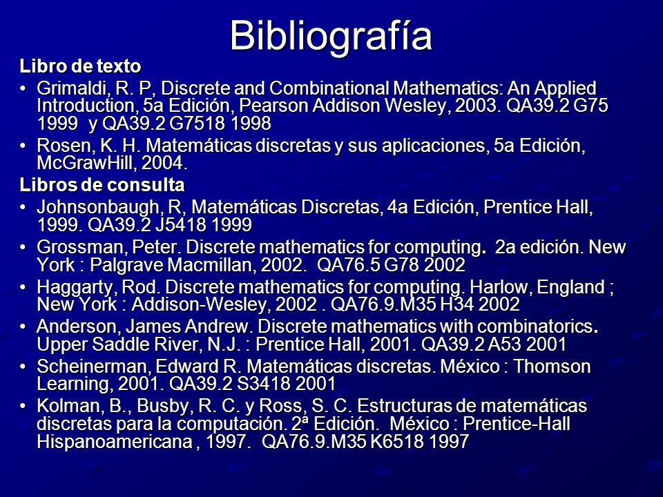 Bibliografía Libro de texto