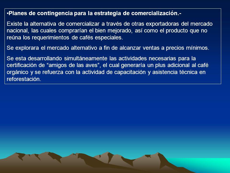 Planes de contingencia para la estrategia de comercialización.-