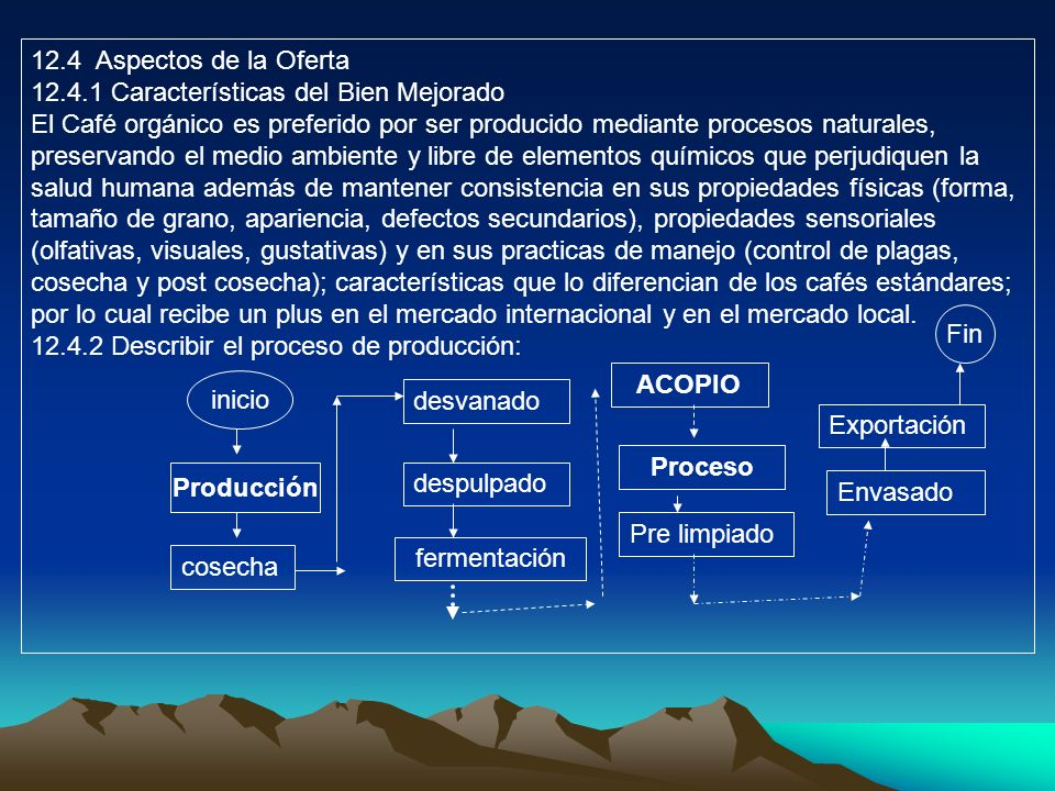 12.4 Aspectos de la Oferta 12.4.1 Características del Bien Mejorado.